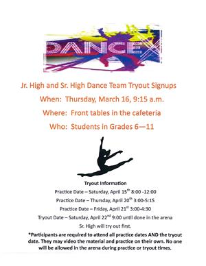 dance tryout